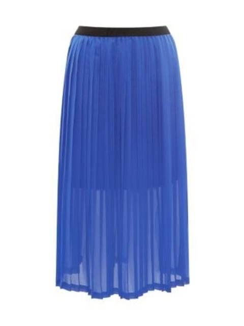 df2c7a7b5 Blue Plain Pleated Midi Skirt | Endource