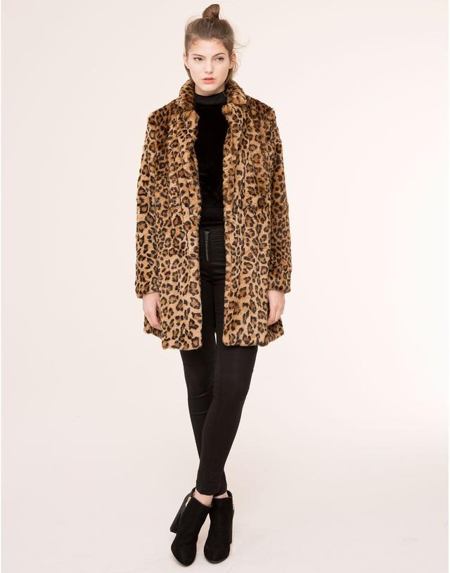 Faux Fur Leopard Coat Photo Album - Reikian