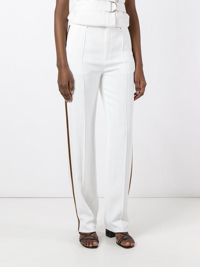 straight leg piped trousers - White Chloé vZk7usO4