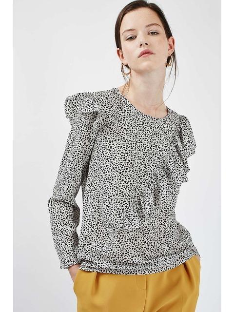 Ruffle Long Sleeve Blouse  726ab222c