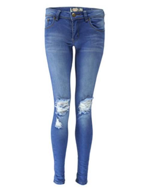ff18d4e9006 Loren Distressed Rip Knee Skinny Jeans   Endource