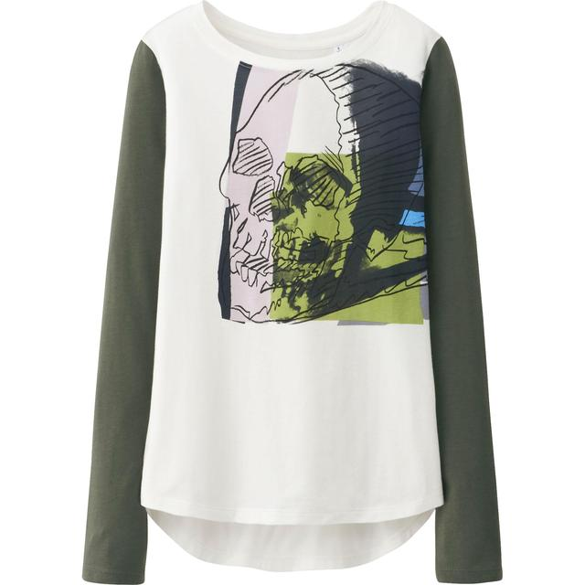 Women sprz ny long sleeve graphic t shirt andy warhol for Uniqlo moma t shirt