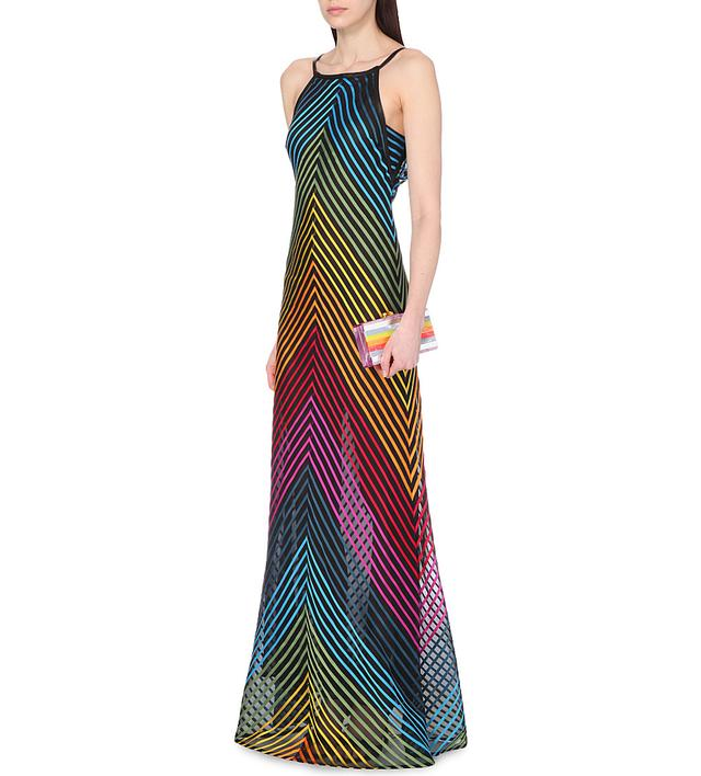 Rainbow-Striped Maxi Dress | Endource