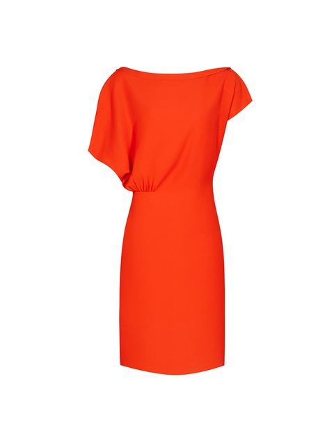 Orange Draped Dress