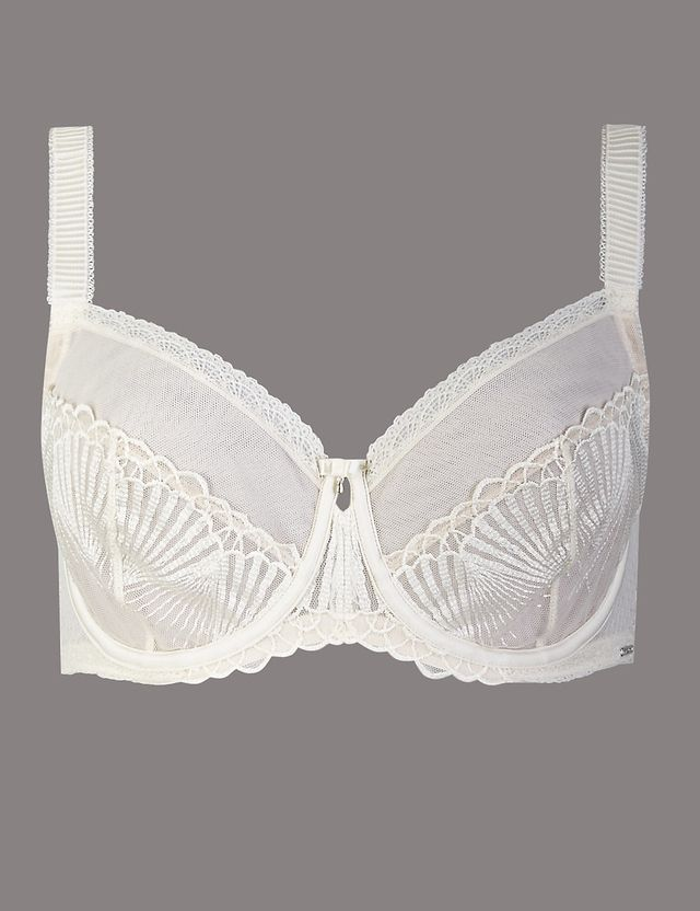 Embroidered non padded balcony bra endource