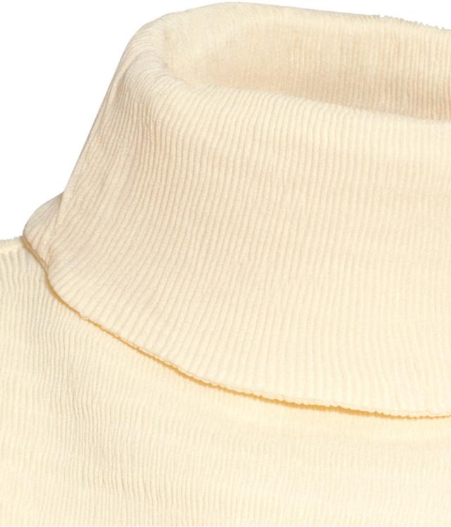 Crinkled Polo-neck Top by H&m