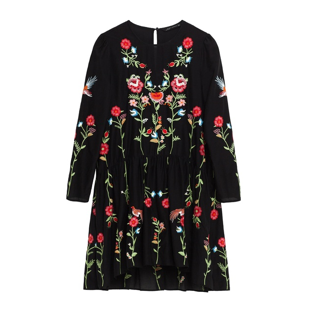 4c7ede1935 Embroidered Floral Dress