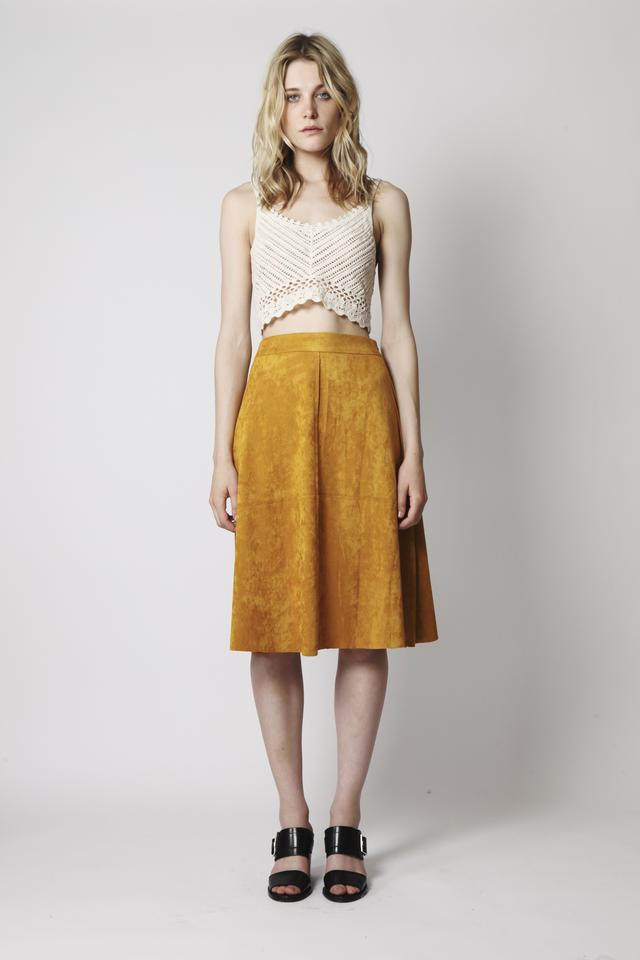 Suede Midi Skirt | Endource
