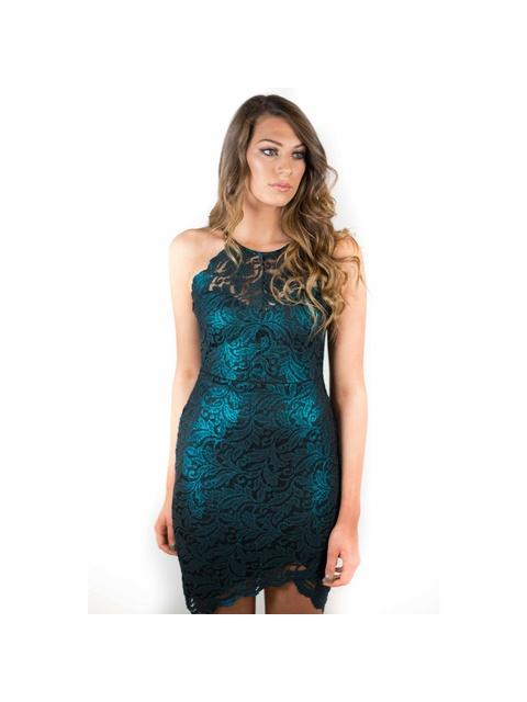 8ca78583e2 Lace High Neck Dress   Endource