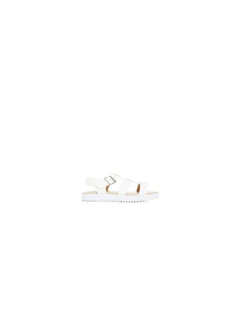 7af193b9f Wide Fit White Chunky Flatform Gladiator Sandals