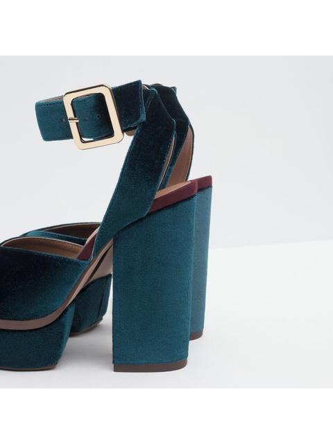 748cfb3484ad Velvet Platform Sandals