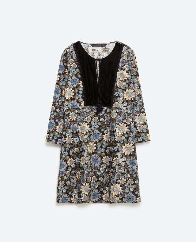 32547332 Bib Front Floral Dress | Endource