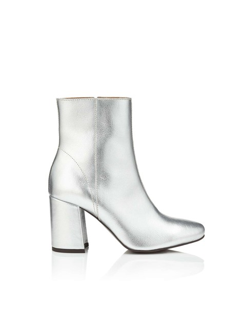 Adoni Silver Leather Boots Endource