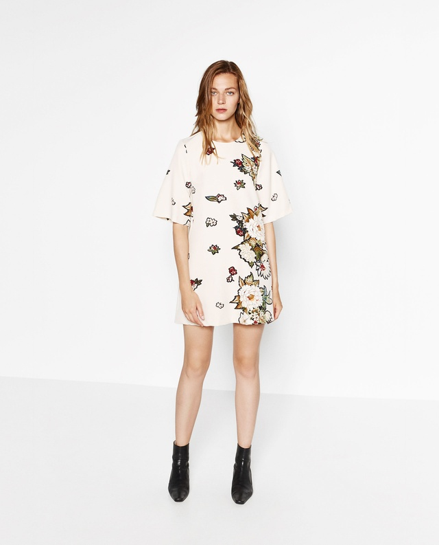 White floral dress zara floral print dress by zara mightylinksfo