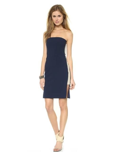 156a6e84f6774 Strapless Dress with Side Insets | Endource