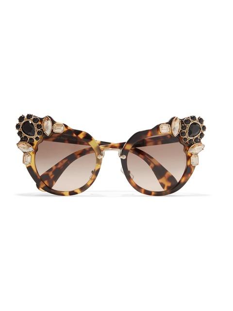 2a6e18071b7 Crystal-embellished Cat-eye Sunglasses