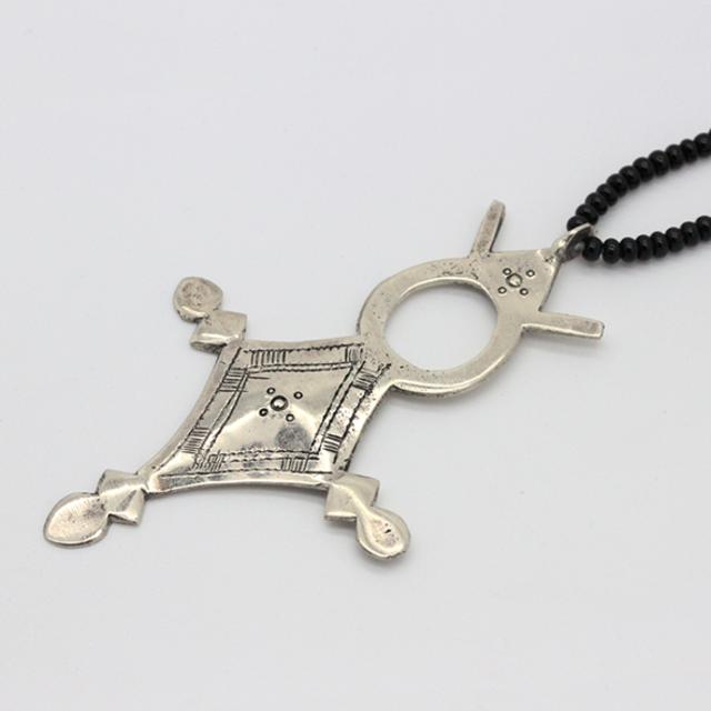 Native tuareg silver cross necklace endource native tuareg silver cross necklace mozeypictures Images