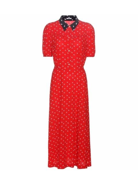 44413102e Printed Midi Dress   Endource
