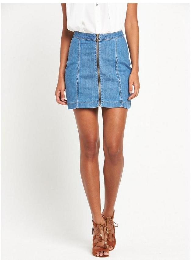 Zip Denim Skirt | Endource