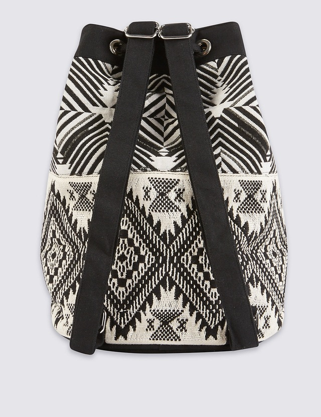 Embroidered duffle bag endource