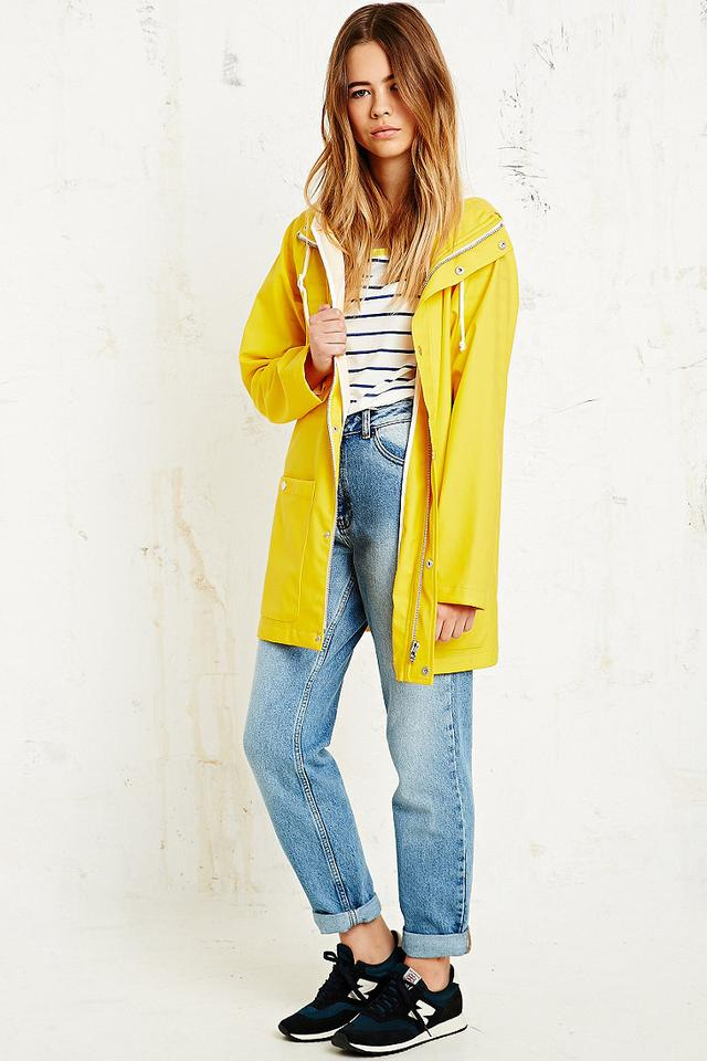 BDG Fisherman Rain Jacket in Yellow | Endource