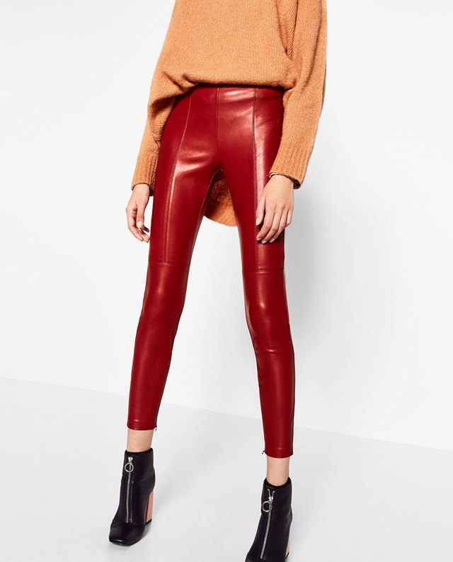 Faux Leather Leggings. Check out a red-hot look—it's the faux-leather legging! Slip on a pair for instant, effortless rockstar glam, day or night.