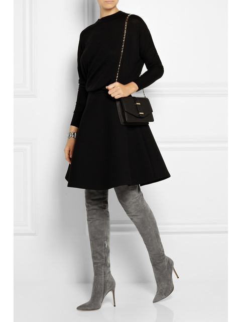 b6bfdccf3a5 Suede Over-the-knee Boots