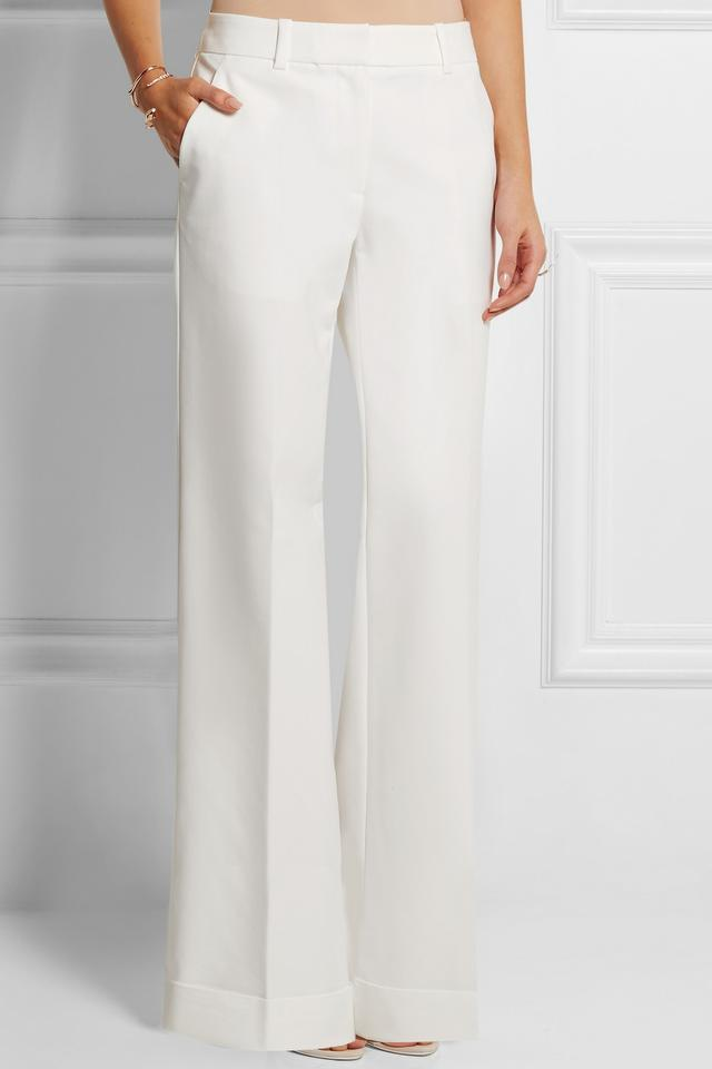 Stretch-cotton twill wide-leg pants | Endource