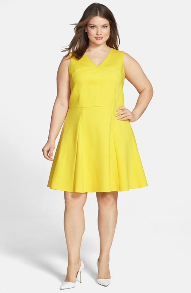 Sleeveless Fit Flare Dress Plus Size Endource