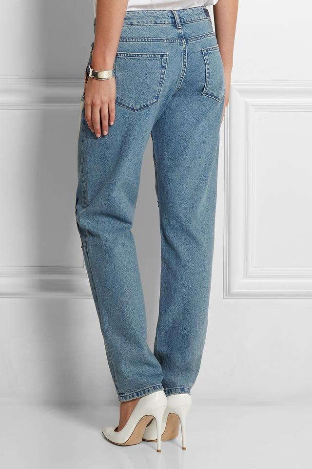 Nancy Appliquéd High-Rise Boyfriend Jeans | Endource