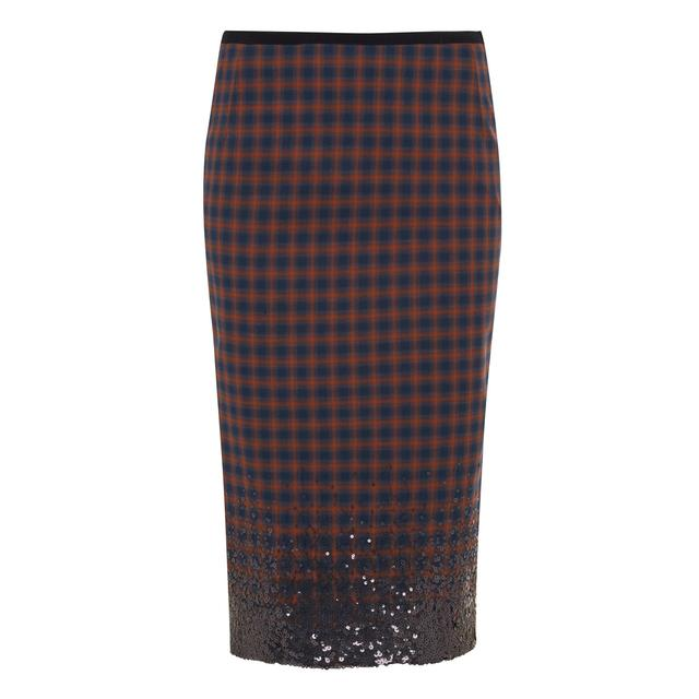 9438e2a801 Sequin Plaid Skirt | Endource