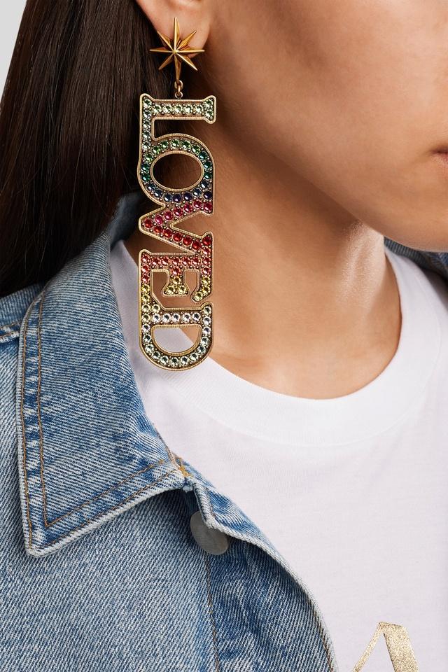 Loved Crystal Earrings Endource