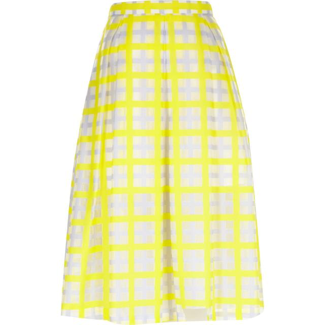 1ef291c90 Woven Check Midi Skirt | Endource