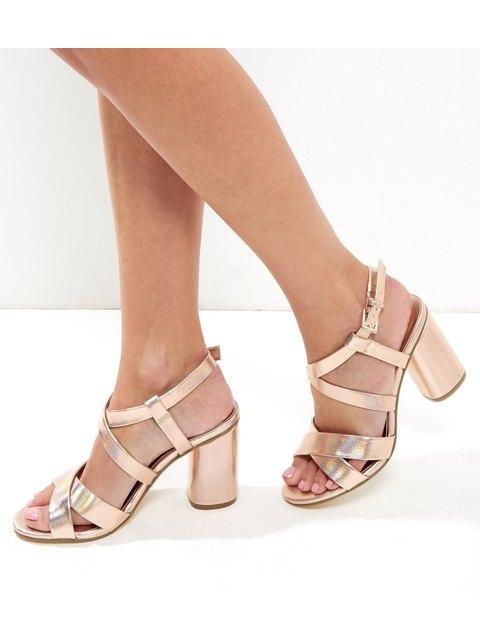 74607c76c2d13 Metallic Multi Strap Sandals   Endource