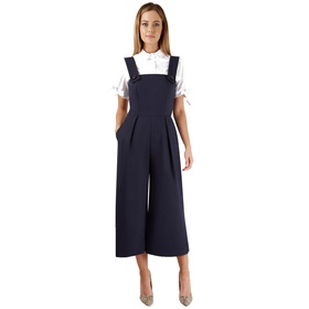 Button Strap Wide Leg Jumpsuit by Closet