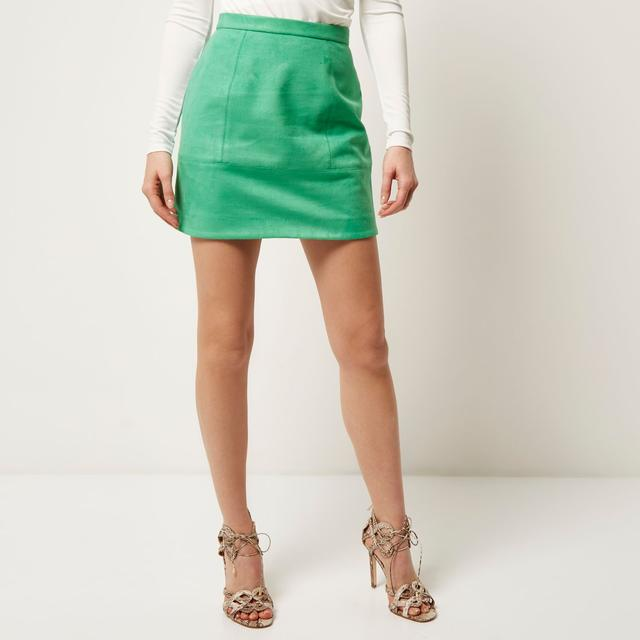 Green A-line Skirt | Endource