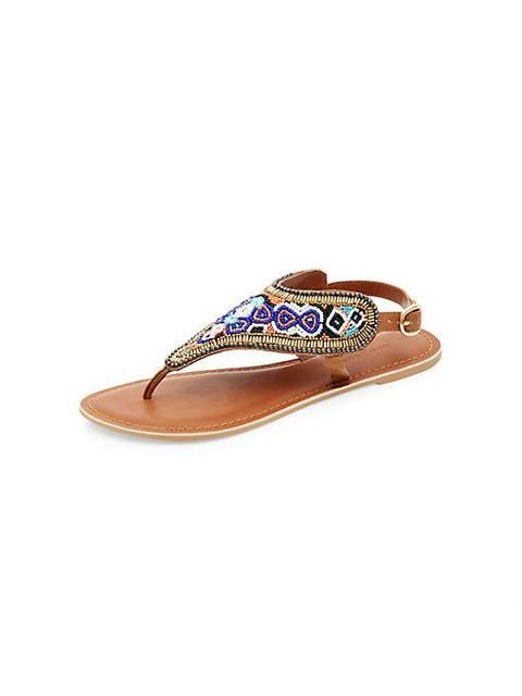3a9a373166d446 Aztec Beaded Sandals