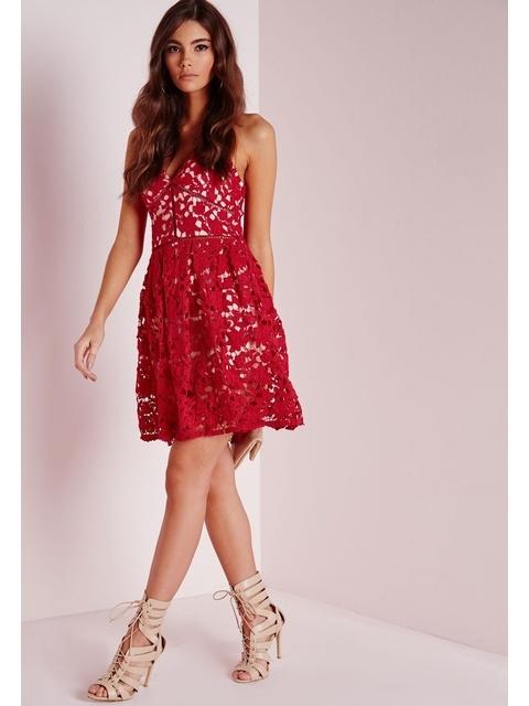 29360da6e311 Lace Skater Dress