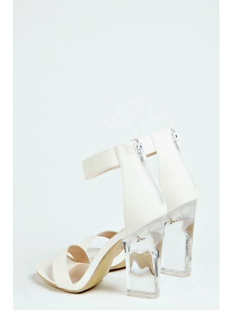 ef20e6eaeca Lauren Ankle Strap Perspex Heels