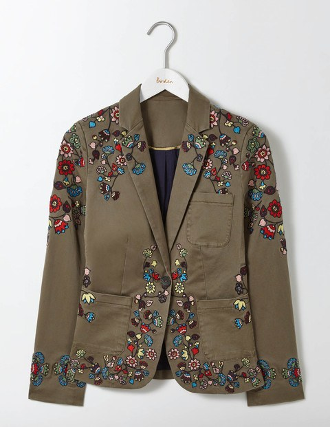 Florence embroidered blazer endource