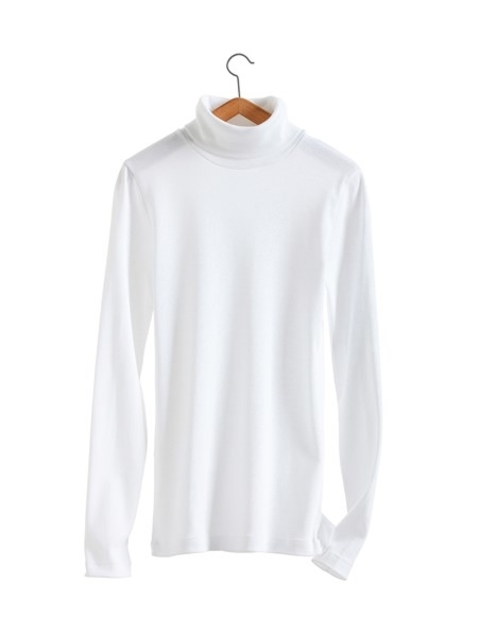f5c4e9421a Women's Long-Sleeved Fine Polo-Neck In Iconic Cotton | Endource