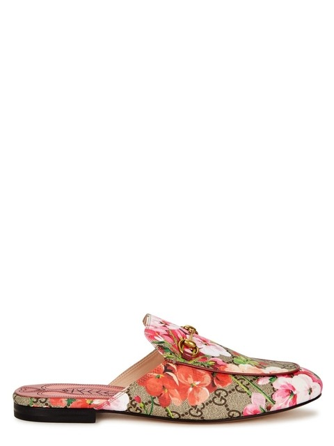 6a0b32a069b3 Princetown GG Blooms Floral Loafers