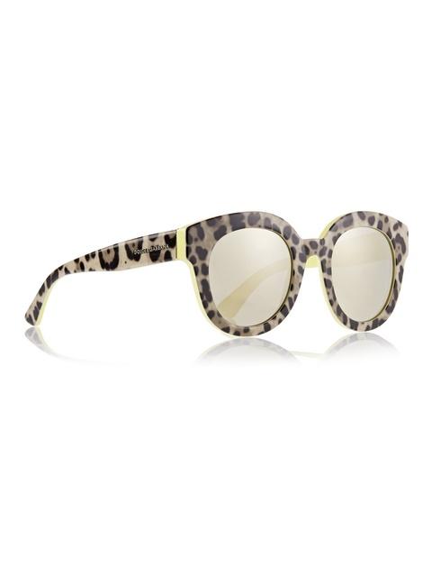 60c1ba9e5b84 Leopard-print Cat Eye Mirrored Sunglasses | Endource