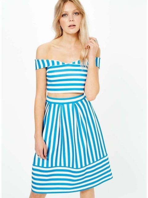 a88109f5b6c3eb Stripe Bardot Top