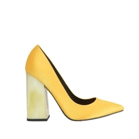 Yellow Block Heel Shoes | Endource
