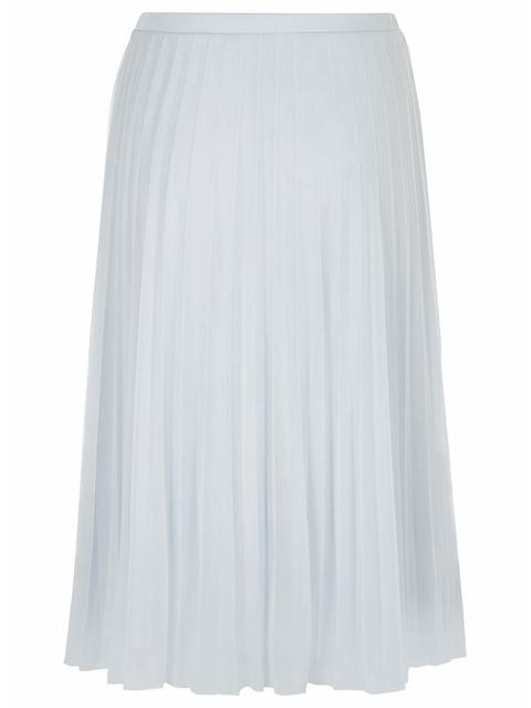1ae79a49f2 Tall Ice Blue Mesh Pleat Midi Skirt | Endource