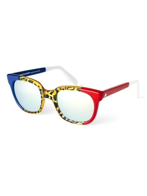d22cd000fd3 Sheriff   Cherry Wayfarer Sunglasses with Leopard Print and Colour ...