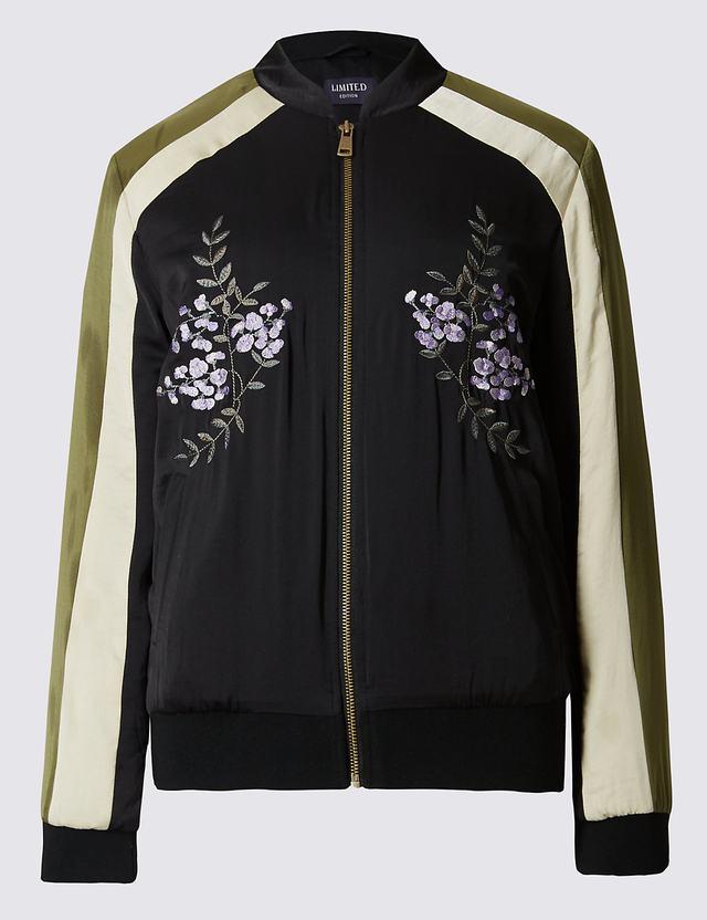 Embroidered bomber jacket endource