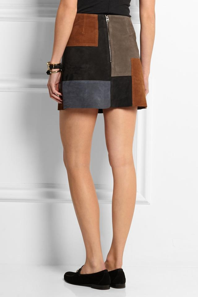 Patchwork Suede Skirt | Endource