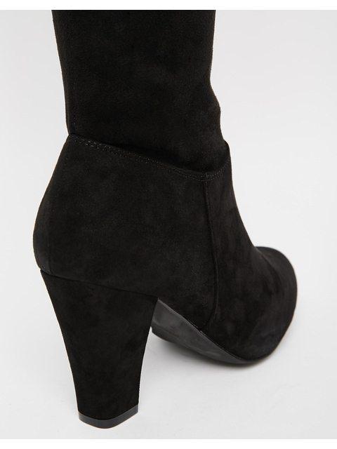 a5409aa5e46 Stretch Heeled Over The Knee Boots